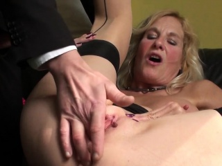 Squirting brit granny throatfucked