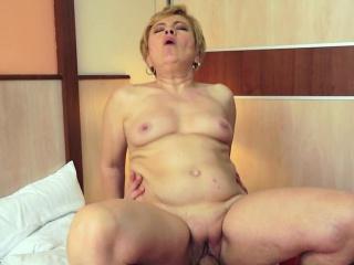 European grandma banged in various poses
