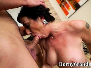 Jizz mouthed grandmother