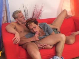 Granny next door rides cock after blowjob