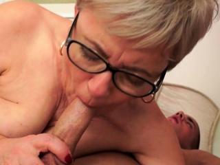 Spex european grandma pounded in missionary