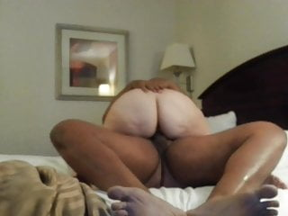 young black gives blonde granny creampie