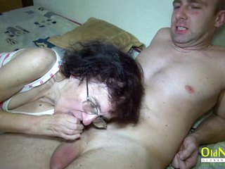OldNannY Enjoyable Blowjob and Threesome