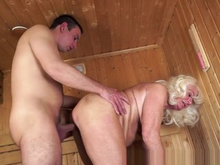 Pussylicked Grandma Sucks Cock Until Cumshot