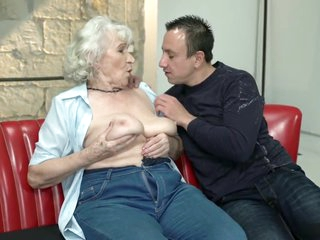 Grandma Norma has shaved pussy and 2 orgasms