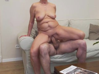 Grandma Anastasia fucks her friend's son
